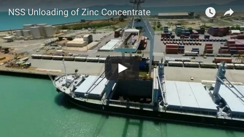 NSS Unloading of Zinc Concentrate