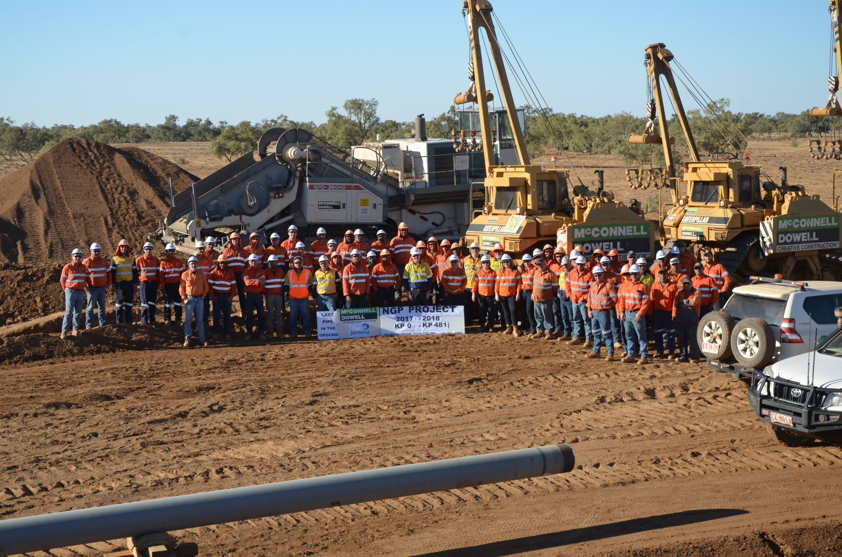 Pipeline complete in $800m gas project