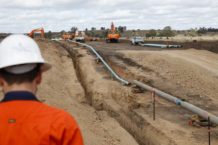 Gas pipeline milestone for Project Atlas