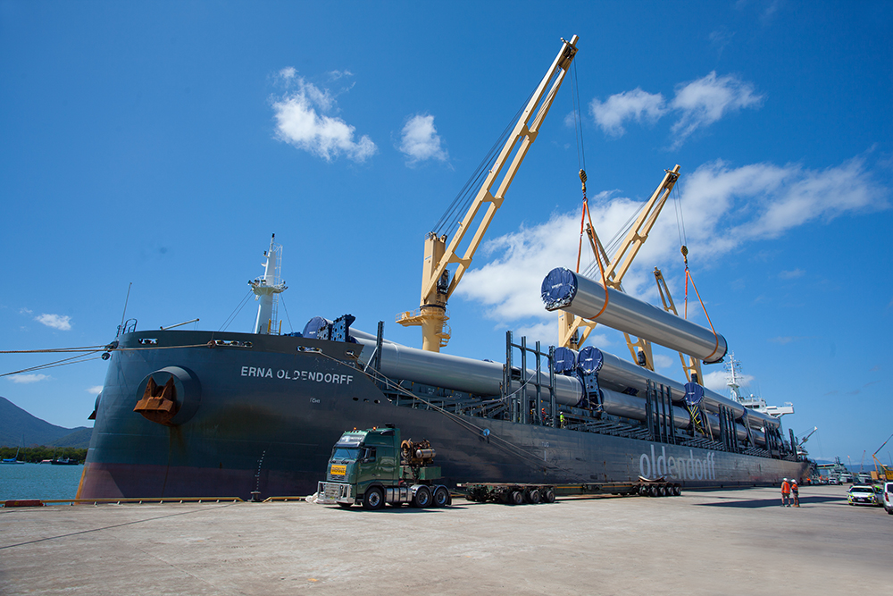 Wind farm cargo arrives in Cairns