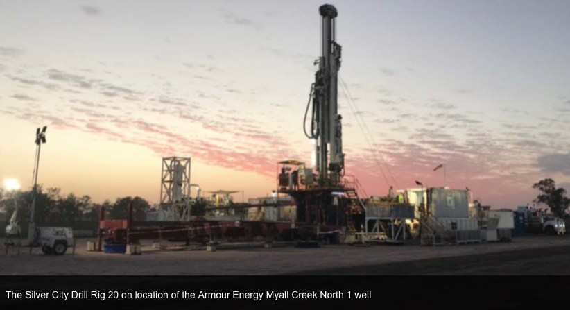 Armour Energy 'spuds' the Myall Creek well