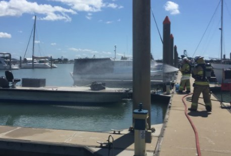 Exercise in marina fire safety